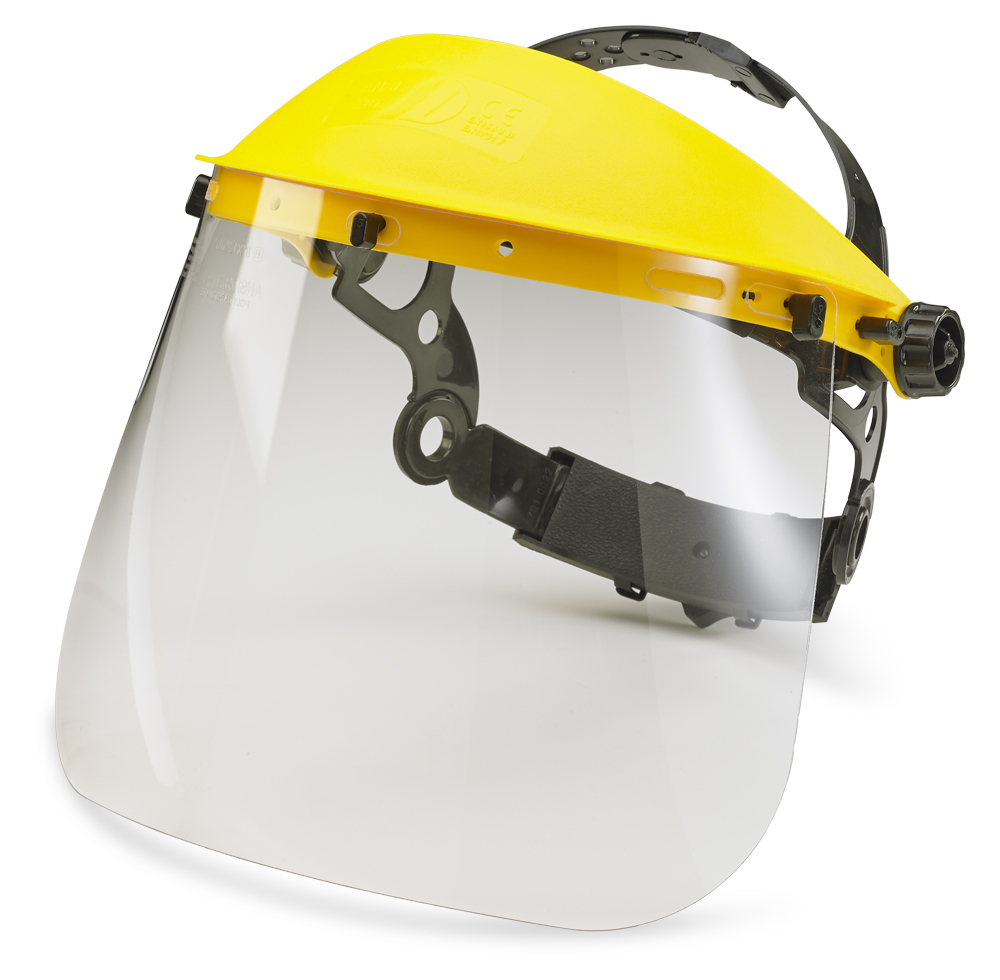 "Click Standard Face Visor 7.5"" Clear"