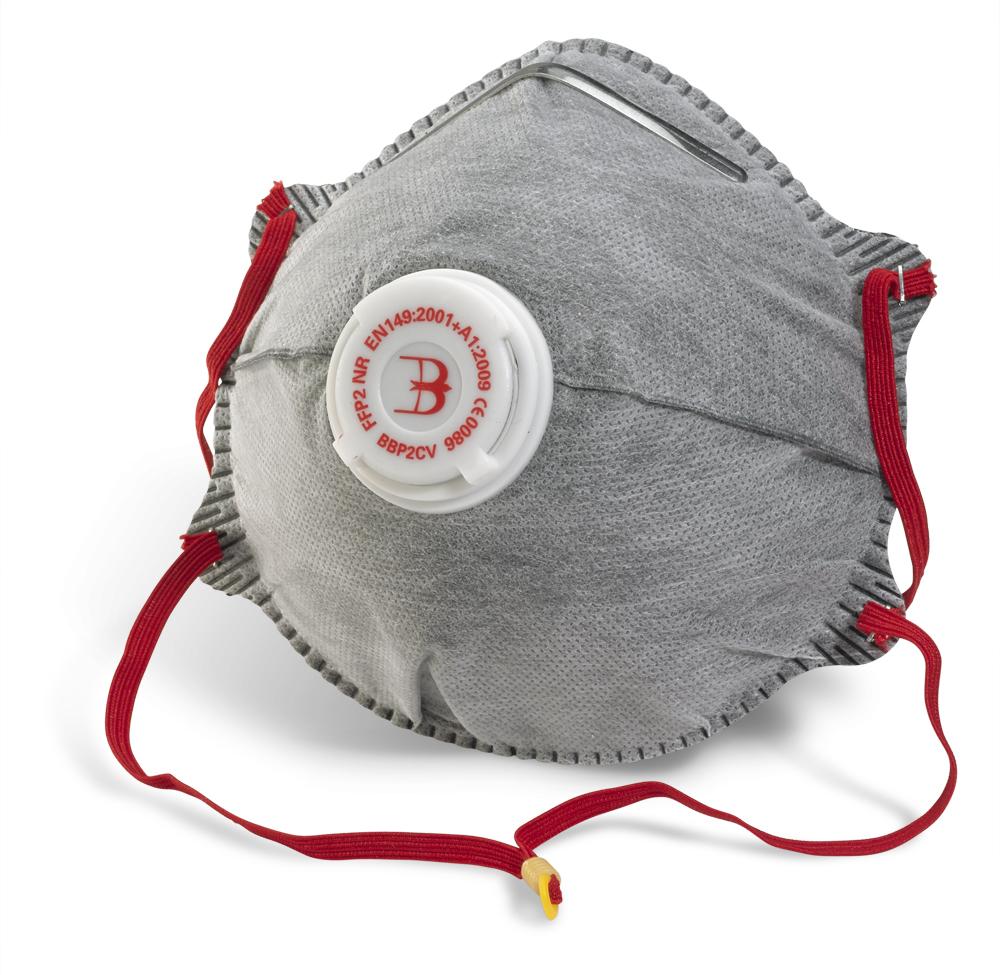 Μάσκα ενεργού άνθρακα P2 με βαλβίδα