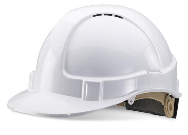 Click Wheel Ratchet Vented Safety Helmet