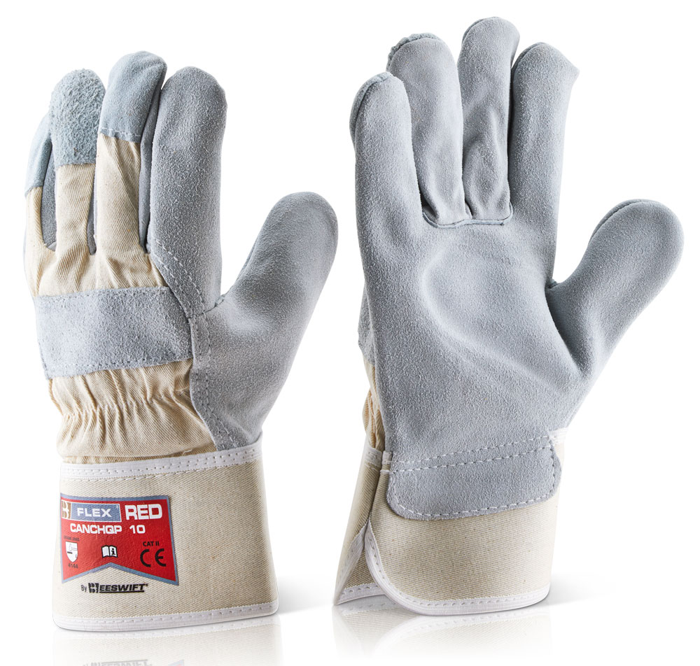 Canadian High Quality Red Rigger Glove Click