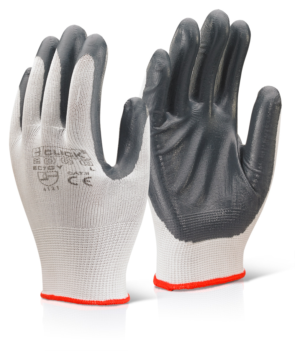 Nitrile Palm Coated Polyester Gloves Click
