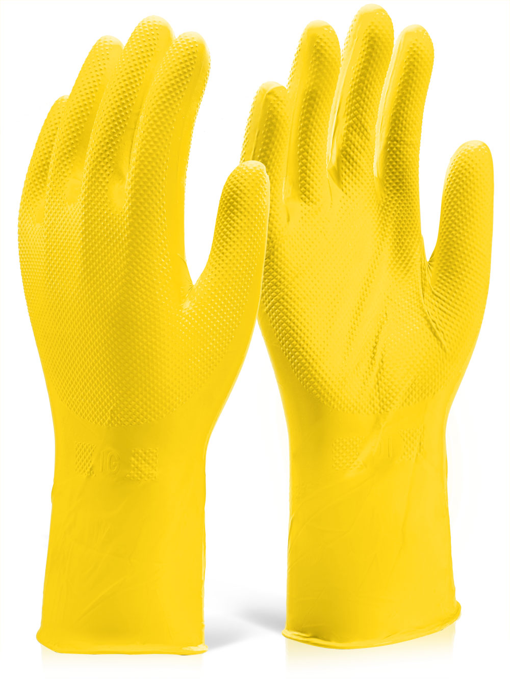 Nitrile Disposable Diamond Grip Glove 30cm Yellow