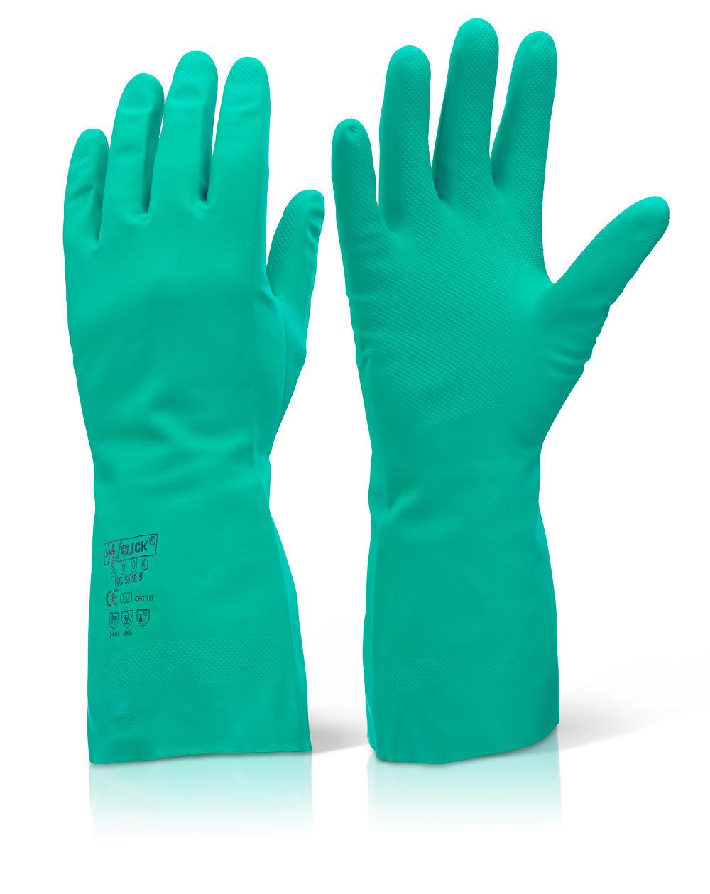 Γάντια νιτριλίου πράσινα Click