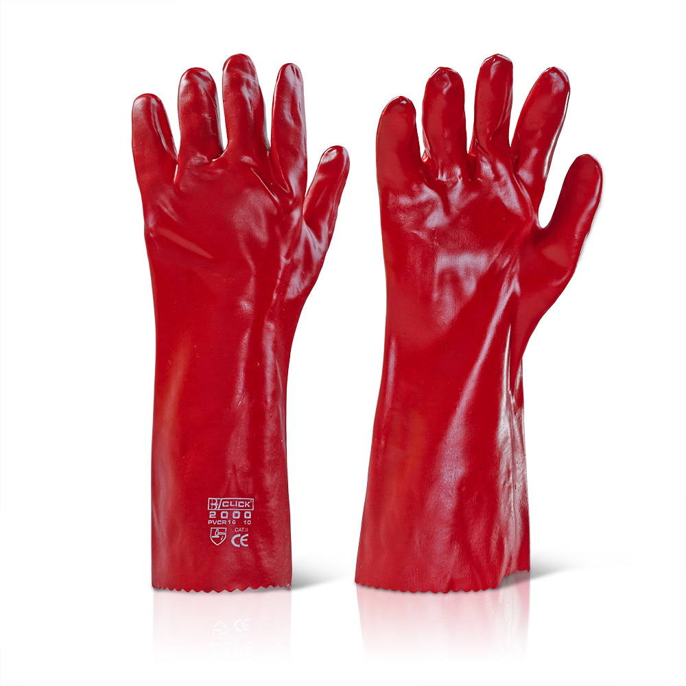 """Γάντια PVC 16"""" (40εκ) Click"""