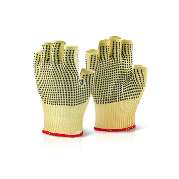 Kevlar Fingerless Dotted Gloves Click