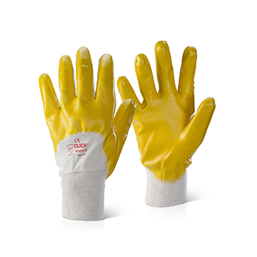 Nitrile Knitwrist Palm Coated Gloves